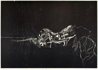 Sebastian Skowroński, Figura VIII, 2011, drzeworyt, nakład:11szt., 42x60cm, papier graficzny Canson Edition (77x57cm)