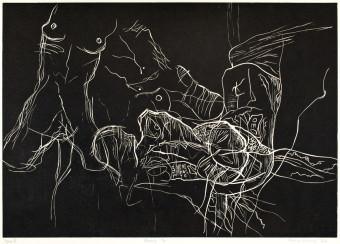 Sebastian Skowroński, Figura VI, 2011, drzeworyt, nakład:7szt., 42x60cm, papier graficzny Canson Edition (77x57cm)